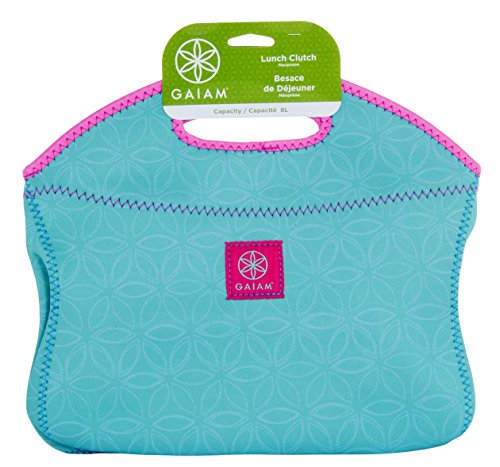 Gaiam 4 Litre Petite Flower of Life Lunch Clutch, Teal