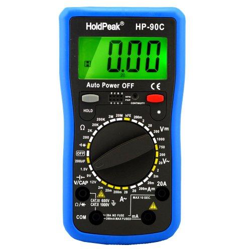 Digital Multimeter HP-90C CATIII mit Batterietester, Strom, Spannung, Widerstand, Transistor