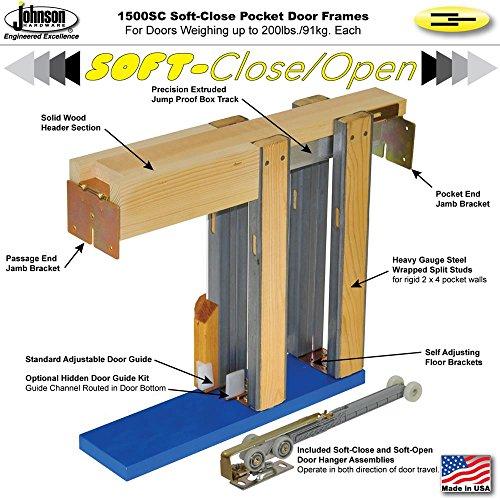 Johnson Hardware 152668SC Commercial Grade Pocket Door Frame (30
