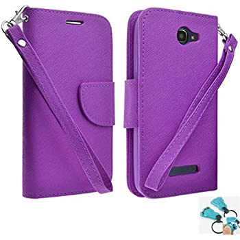 Customerfirst - Flip Wallet Pouch, Slim Folio Case with Kickstand, 2 Credit Card Slot Wallet Pouch Leather Wallet Folio Case, Credit Card ID Slots, ...