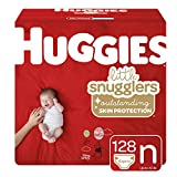 Huggies Little Snugglers Baby Diapers, Size Newborn (up to 10 lb.), 128 Ct, Giant Pack (Packaging May Vary)