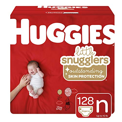 Huggies Little Snugglers Diapers, Size Newborn, 128 Count (Packaging May Vary)