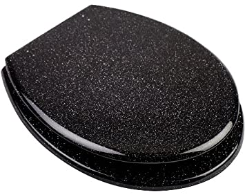 Euroshowers Glitter Black Toilet Seat 81870