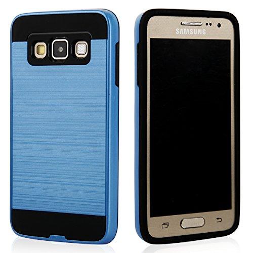 Ego® Hard Case carcasa para Samsung Galaxy A5A500, Gold Metallic Effect aluminio Brushed Funda Cover Carcasa Bumper Funda azul