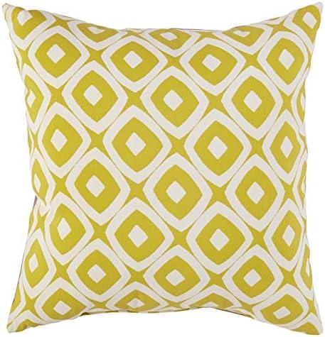 Amazon Brand Rivet Modern Graphic Outdoor Throw Pillow – 17 x 17 Inch, Acid Green