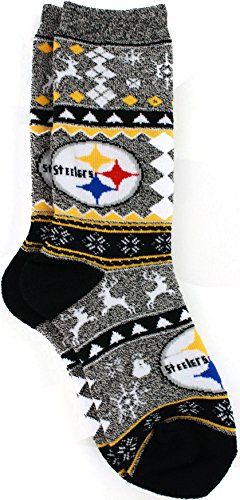 Ugly Christmas Steelers Socks
