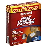 (2 Pack) Cura-Heat Heat Therapy Patches, Air Activated, Neck Shoulder & Back, Value Pack 7 heat patches each