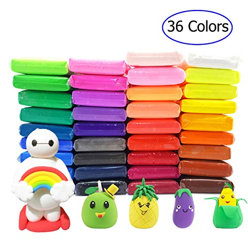36 PCS Air Dry Clay,Colorful Children Modeling Soft Clay with Tools,Creative Art DIY Crafts,Perfect Gifts for Kids.