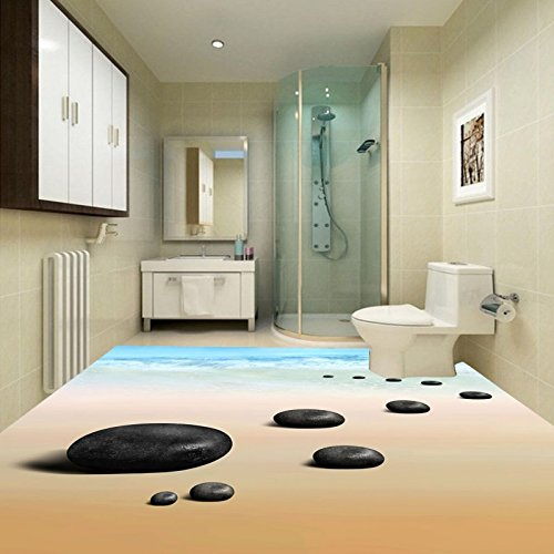 LHDLily 3D Beach With Pebble Flooring Waterproof Non-Slip ... on navy bathroom design, chocolate bathroom design, sage bathroom design, violet bathroom design, pewter bathroom design, wood bathroom design, onyx bathroom design, forest bathroom design, steel bathroom design, quartz bathroom design, mauve bathroom design, ivory bathroom design, bronze bathroom design, brick bathroom design, desert bathroom design, gold bathroom design, cherry bathroom design, pine bathroom design, espresso bathroom design, peach bathroom design,