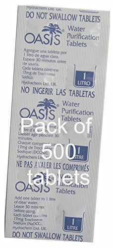 Oasis Pack of 500 Tablets 17mg Treats 1L each