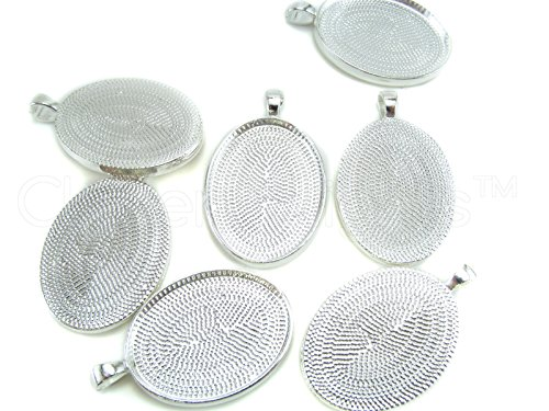 CleverDelights Oval Pendant Trays Shimmering product image