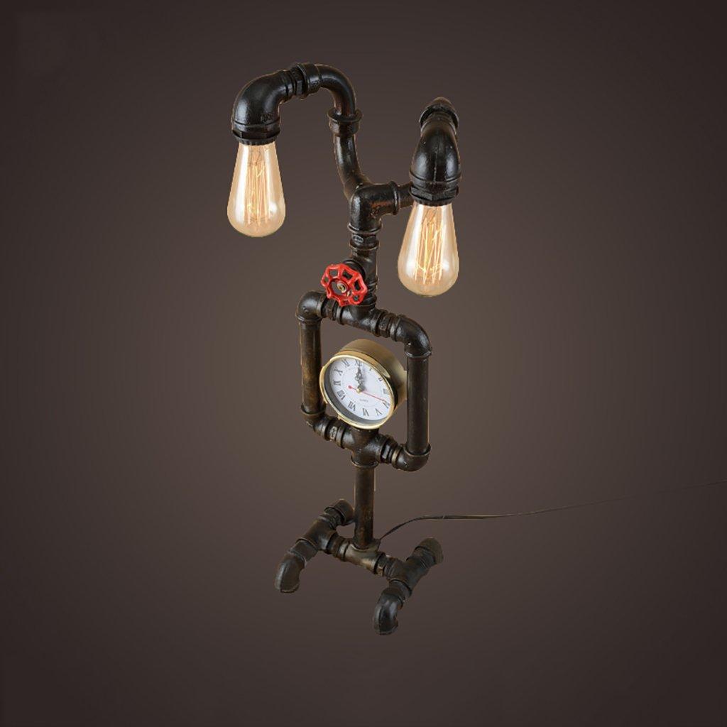 acquista la qualità autentica al 100% Lampada creativa Retro Tabella Industria Industria Industria Lampada Desk Lamp Camera Lampada da comodino Tubi di acqua creativo Robot Iron Restaurant Bar luci decorative Disegno della lampada ( colore   A )  risparmia il 35% - 70% di sconto