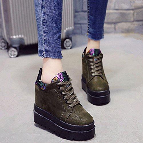 GAOLIM La Primavera Y El Verano Solo Zapatos Zapatos De Mujer Mitad-Arrastre Y Alto Talón Zapatos Finos Con Bajo Arrastre Y Cabezal Hembra Con Las Zapatillas De Punta Fría El verde