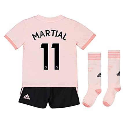 best sneakers 32c75 d7237 Amazon.com : UKSoccershop 2018-19 Man Utd Away Mini Kit ...