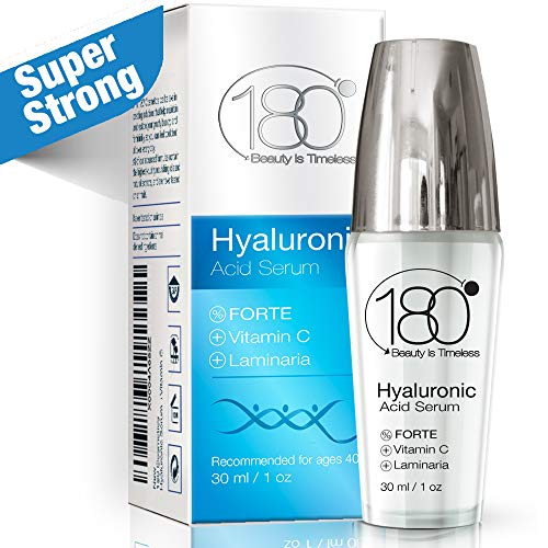 Hyaluronic Acid Vitamin C Facial Serum - Super Strong - 180 Cosmetics - Face Lift Skin Serum for Face and Eyes - Pure Hyaluronic Acid For Immediate Results - Hydrating Anti Aging Wrinkles Fine Lines