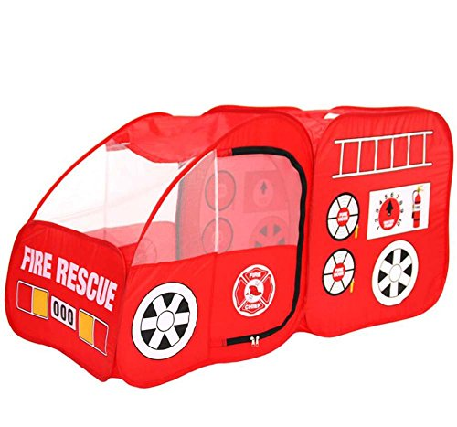 Folding Toy Tent Children's Tent Indoor Fire Truck Tent Game House Foldable Outdoor Car Game Tent Gift - Truck Story Toy Fire