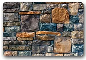 BravoVision Custom Colorful Piedra para interiores/al aire libre Felpudo