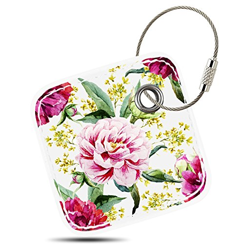 Case for Tile Mate/Tile Sport/Tile Style - Key Finder, Phone Finder, Anything Finder, Tile Mate Accessories, Lether Case Cover for Tile Mate with Anti-lost Design, Peony, By Logity.