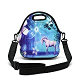 Insulated Neoprene Lunch Bag Removable Shoulder Strap Reusable Thermal Thick Lunch Tote Bags
