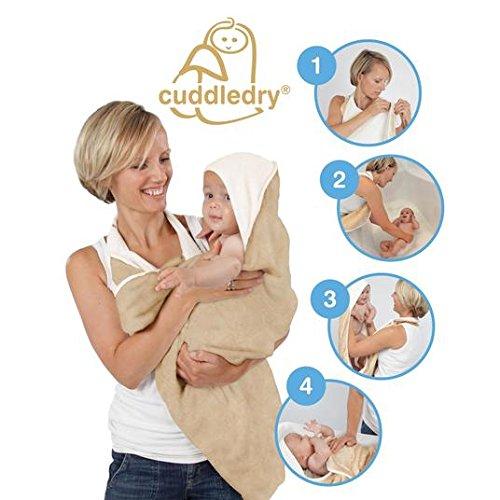 La harina de avena original de la toalla de baño del bebé delantal Cuddledry: Amazon.es: Salud y cuidado personal