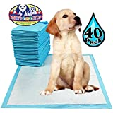 "Matty's Pet Stop Premium Pet Training Pads for Dog & Puppy (23.6"" x 23.6"") Super-Absorbent - 40 Pack"