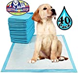 Matty's Pet Stop Premium Pet Training Pads for Dog & Puppy (23.6'' x 23.6'') Super-Absorbent - 40 Pack