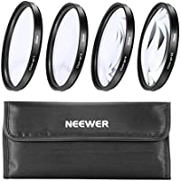 Neewer 58MM Macro Close-Up Filter Set (+1 +2 +4 +10) with Pouch for Canon Digital SLR Camera Which Has Any Of These (18-55mm, 75-300mm, 50mm 1.4 , 55-200) Canon Lenses