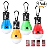 LED Tent Light Bulb with Clip Hooks, Small But Bright 150 Lumens LED...