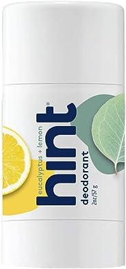 Hint Eucalyptus Lemon Deodorant, 2.5 Ounce Naturally Scented, Vegan, No aluminum, Paraben-Free, Eucalyptus Lemon, 2.5 Fl Oun