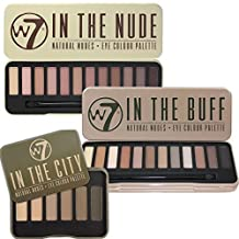 W7 Trio Eye Shadow Palette Set In The Buff, In The Nude & In The City