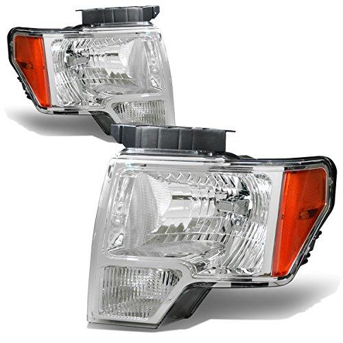 Gen Pair of Chrome Housing Amber Corner Headlight Lamps Lighting Kit ()