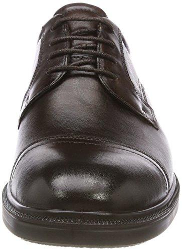 ECCO Brown Uomo Derby Marrone Scarpe Stringate 1482 Cocoa Lisbon aqwfTax7