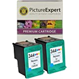344 ( C9363EE ) Remanufactured Colour Ink Cartridge x 2 for HP Printers