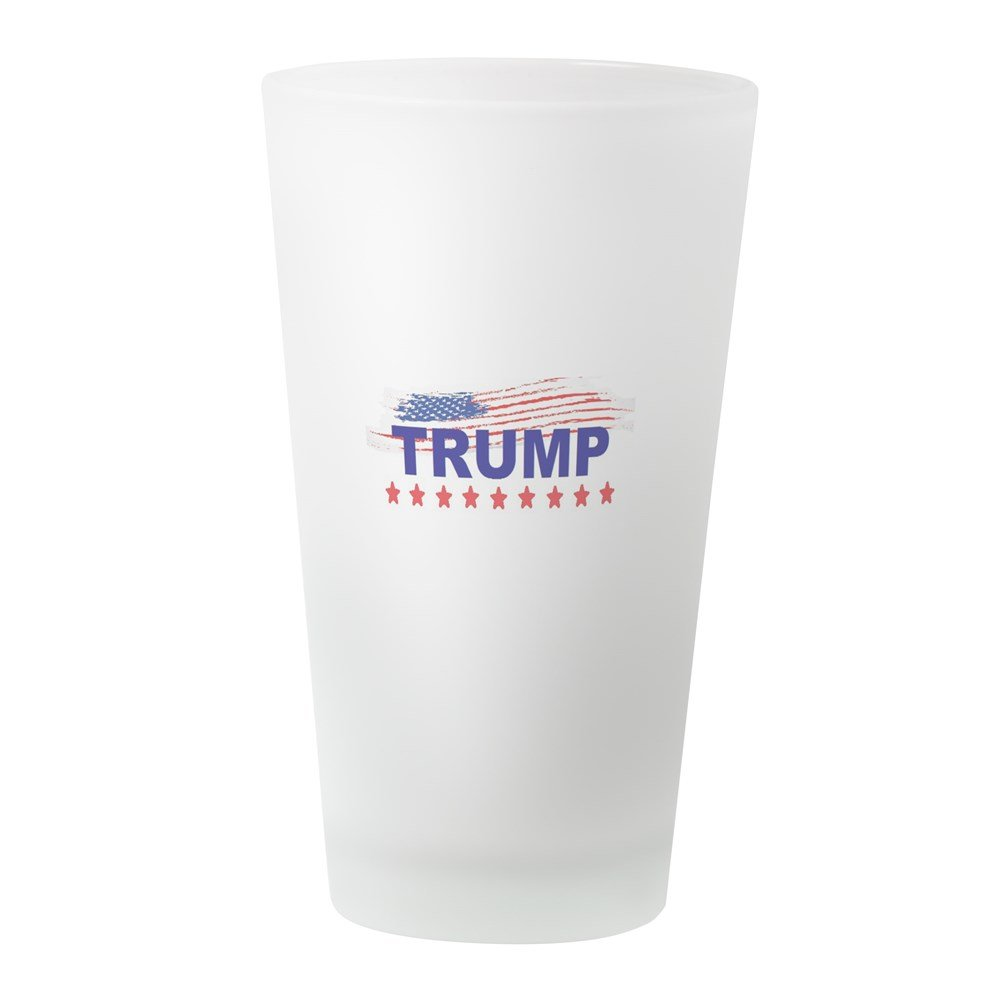 CafePress Trump Make America Great Again Pint Glass 16 oz Drinking Glass