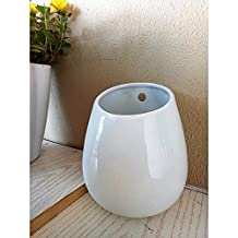 H 16CM x W 13CM Large Ceramic Vase White Ceramic Pot Indoor Plants Planter Wall Decor Home Decor