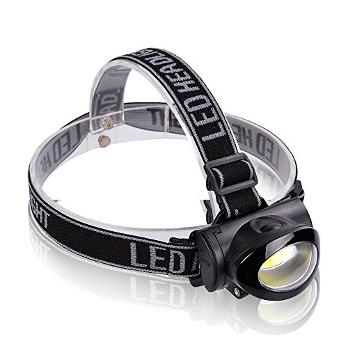 Led Tikka 3 Headlamp (VIBELITE LED Headlamp Running, Hiking, Reading, 3 Modes Battery Powered Helmet Light)