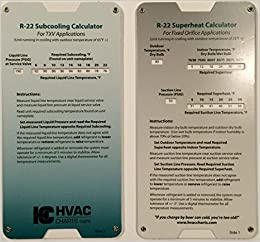 Amazon Com R22 Superheat Subcooling Calculator Charging