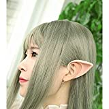 1 Pairs Elf Ears Cosplay Accessories Halloween Party Soft Pointed Prosthetic Tips Ear