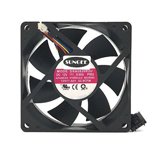 (DASA0820R2U 12V 0.6A 4Wire For Dell Optiplex 790 990 SFF Case Cooling Fan)