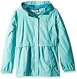 Columbia Little Girls' Pardon My Trench Rain Jacket, Candy Mint, XS