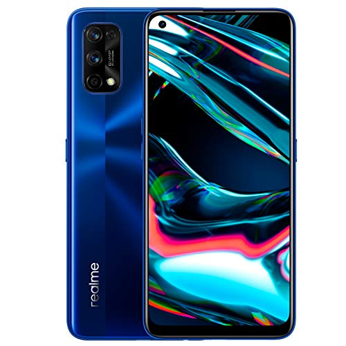 realme 7 Pro – Smartphone de 6.4″, 8GB RAM + 128GB ROM, pantalla SuperAMOLED FHD+, procesador Octa-Core Snapdragon 720G., azul [Versión ES/PT]