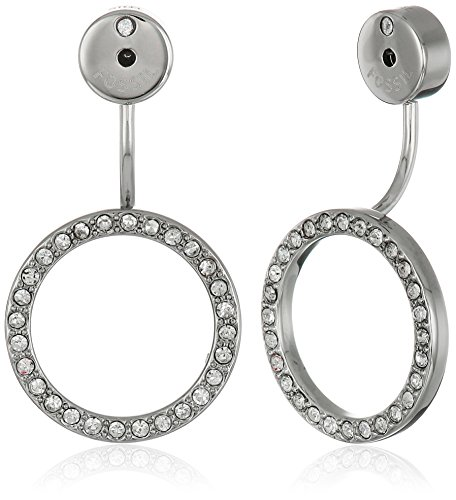 Fossil Circular Crystal Earrings Jackets by Fossil