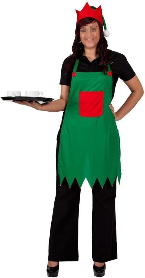 tfxwerws creativo delantal gorro de elfo adulto Elfo Disfraz para ...