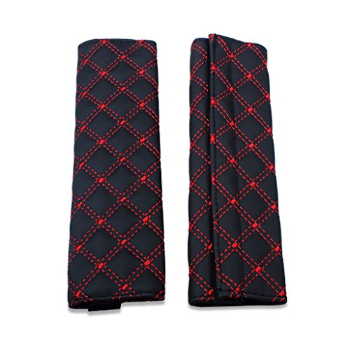 EFORCAR Car Seat Belt Pad, Auto Seat Belt Cushion Safety Strap Covers Bag Shoulder Car Seatbelt Protector Protection Cover Pads (Pack of 2) (Pad Belt Types Seat)