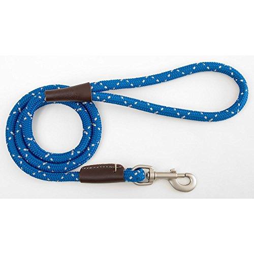 Mendota Snap Dog Lead - Mendota Night Viz Reflective Snap Lead .5in x 6ft BLUE by Mendota Products