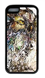 Abstract Night Owl PC Black Case for iPhone 5C (5c818104)