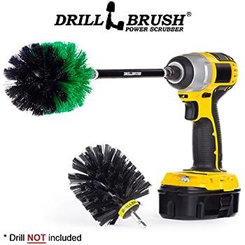 Amazon Com Drill Powered Kitchen And Bath 2 Brush Combo