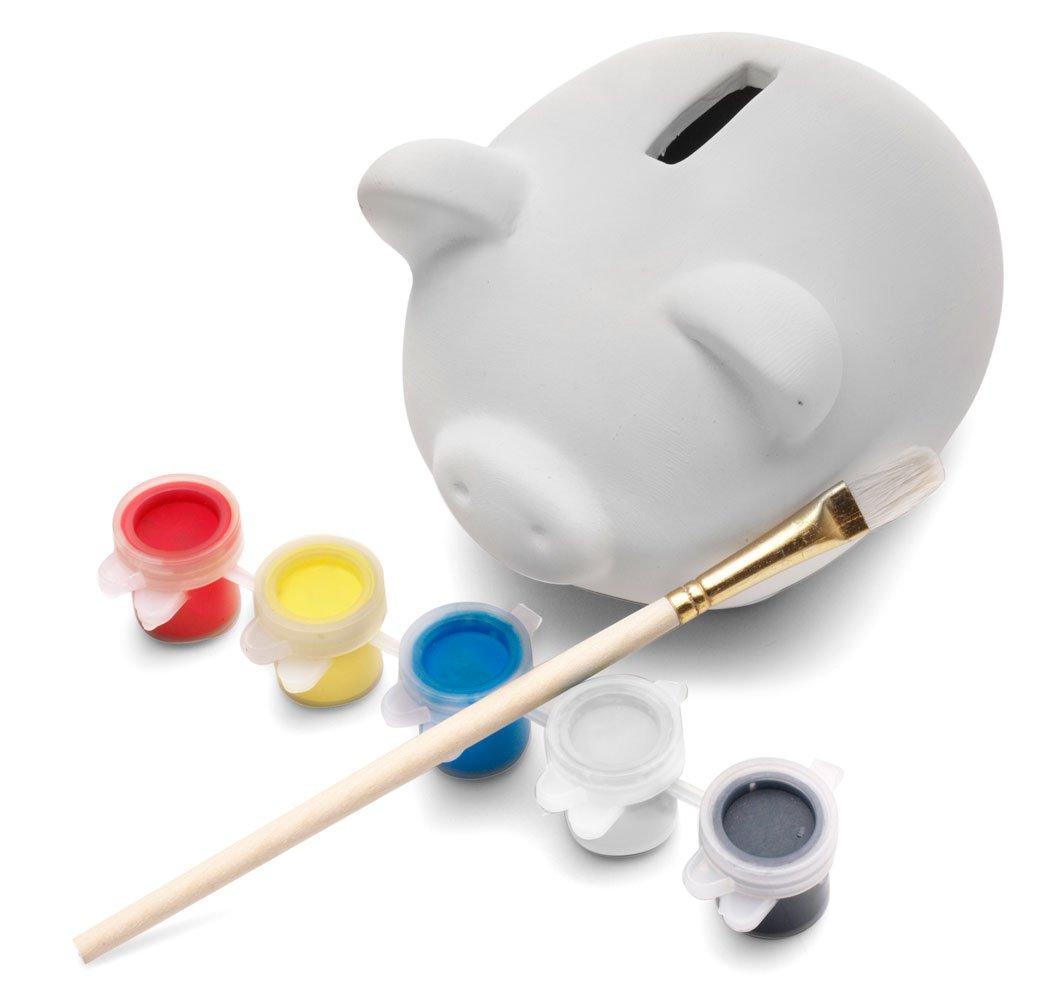 ebuygb infantil para pintar de cerámica pottery Hucha con 5 pinturas – Navidad regalo caja de dinero, porcelana, 7