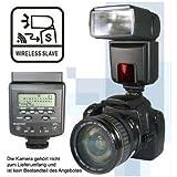 POWERED BY SIOCORE Funk E-TTL Systemblitz bzw. Blitz (Leitzahl 45) mit Funk E-TTL Blitz-Funktion (als Slave) für entfesseltes Blitzen, passend an viele Canon EOS und PowerShot Kameras