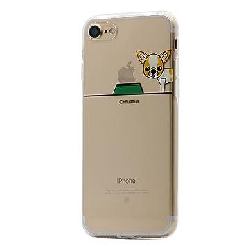 Keyihan iPhone 8/7 Funda Carcasa Perro Lindo patrón Suave TPU Silicona Transparente Ultra Delgada y Ligéra Parachoques para Apple iPhone 8/7 ...
